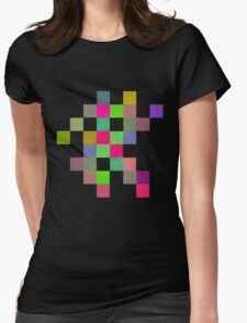 Wobbly Blocks Womens Fitted T-Shirt