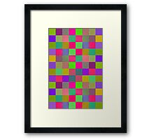 Wobbly Blocks Framed Print
