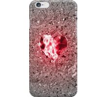 Rose Rubin Heart in rosely-silver water iPhone Case/Skin