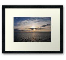 Sky and sea Framed Print