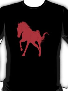 Red Galloping Horse Silhouette T-Shirt