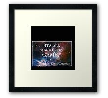 Calhoun's Best Words Framed Print