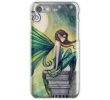 Aquamarine Fairy and Moon Celestial Fantasy Art iPhone Case/Skin