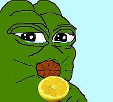 Smug pepe frog by Anon Hanon