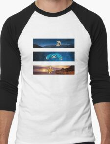 Space Pokemon Collage Men's Baseball ¾ T-Shirt