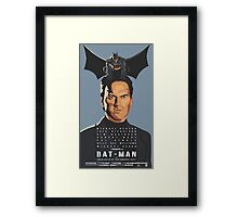 BatBirdMan Framed Print