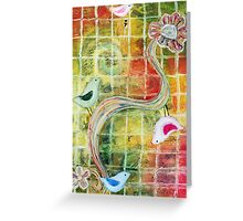 Birds and Flower  Greeting Card