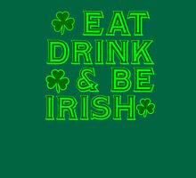 Eat Drink and Be Irish  with Shamrocks Tank Top