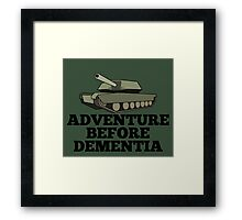 Amored Tank Adventure Before Dementia Framed Print