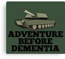 Amored Tank Adventure Before Dementia Canvas Print