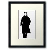 Sherlock Holmes Silhouette Framed Print