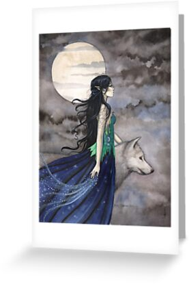 """Night of the Wolf"" Gothic Fantasy Art by Molly Harrison by Molly  Harrison"