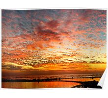 Cloudy Eerie Sunset Poster