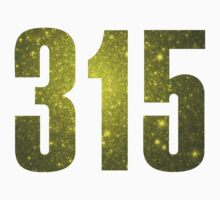 315 Syracuse [Gilded Galaxy] | Phone Area Code Shirts Stickers by FreshThreadShop