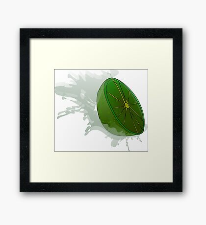 Green Lemon Framed Print