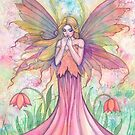 Wildflower Fairy Watercolor Illustration by Molly Harrison by Molly  Harrison