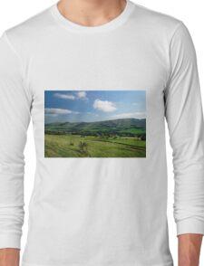 Great Ridge Hills, from the Pennine Way  Long Sleeve T-Shirt