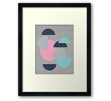 open - gray Framed Print