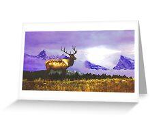 Elk- Jasper National Park, Canada Greeting Card