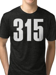 315 Syracuse [White Ink] | Phone Area Code Shirts Stickers Tri-blend T-Shirt