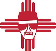 Heisenberg Zia Symbol New Mexico Flag by mikebriones
