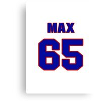 National football player Max Montoya jersey 65 Canvas Print