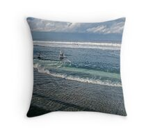 Spring Tide 1 at Newcastle Baths Throw Pillow