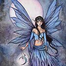 Lunetta Little Moon Fairy Mystical Illustration Fantasy Art by Molly  Harrison