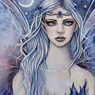 Sapphire Mystical Fairy Fantasy Art by Molly Harrison by Molly  Harrison
