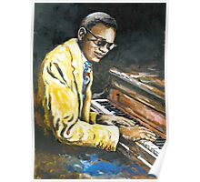 Study of Ray Charles Poster
