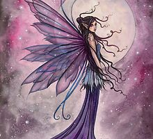 Starlit Amethyst Celestial Fairy Fantasy Art by Molly Harrison by Molly  Harrison