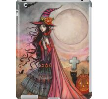 The Fanciful Witch Halloween Fantasy Art by Molly Harrison iPad Case/Skin
