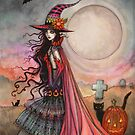 The Fanciful Witch Halloween Fantasy Art by Molly Harrison by Molly  Harrison