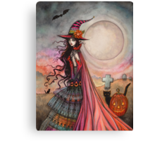 The Fanciful Witch Halloween Fantasy Art by Molly Harrison Canvas Print