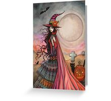 The Fanciful Witch Halloween Fantasy Art by Molly Harrison Greeting Card