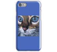 Blue eyed cat iPhone Case/Skin