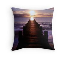 Jetty Lines Throw Pillow