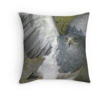 Blue Eagle Throw Pillow