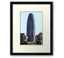 skyscraper  Agbar Tower Framed Print