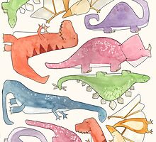 Dinosaur Collage by Bumble & Bristle