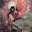 Autumn Flame Fairy Fantasy Art by Molly Harrison by Molly  Harrison