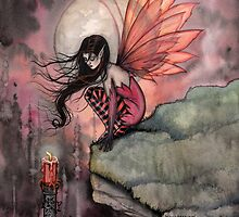 Autumn Flame Fairy Fantasy Art by Molly Harrison by Molly  Harrison