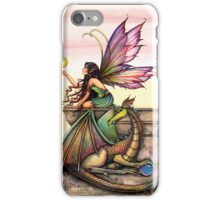 Dragons Orbs Fairy and Dragon Art by Molly Harrison iPhone Case/Skin