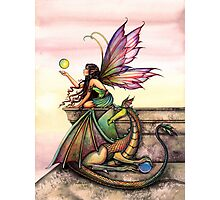Dragons Orbs Fairy and Dragon Art by Molly Harrison Photographic Print