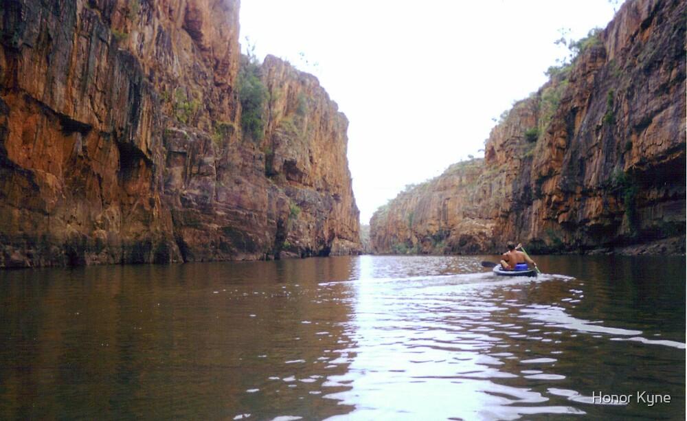 Canoeing Katherine Gorge by Honor Kyne