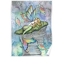 Leaping Carp Mermaid Fantasy Art Art by Molly Harrison Poster