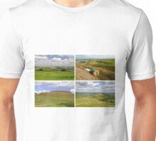 Mam Tor Collage 01 - Plain  Unisex T-Shirt
