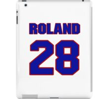 National football player Roland Solomon jersey 28 iPad Case/Skin