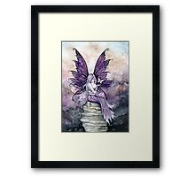 Letting Go Fairy Art with White Butterfly Framed Print