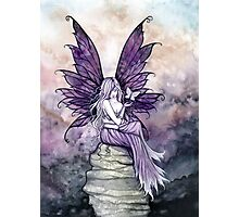 Letting Go Fairy Art with White Butterfly Photographic Print